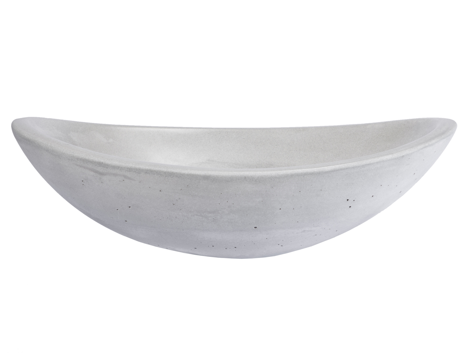 -Concrete Canoe Vessel Sink - Light Gray